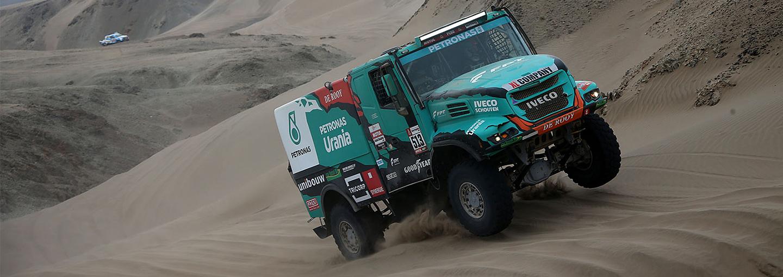Dakar Rally 2019:De Rooy maakt indruk in zware zevende etappe